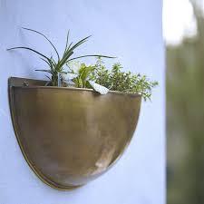 brass wall planters from rowen u0026 wren in the uk gardenista