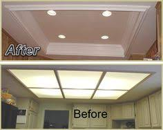 Kitchen Ceiling Lights Remodel Flourescent Light Box In Kitchen We Also Replaced The