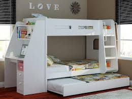 Wooden Bunk Bed With Desk Olympic White Wooden Bunk Bed Sleepland Beds Regarding With Desk