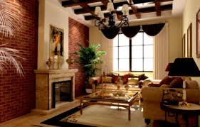 endearing 50 living room with red brick fireplace design ideas of