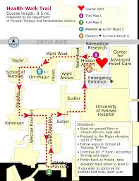 kansas walk in map health walk trail map