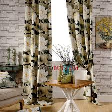 vintage lotus printed floral thick velvet fabric thermal blackout