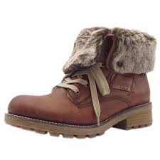 rieker s boots uk rieker husky s casual lace up brown ankle boots mozimo