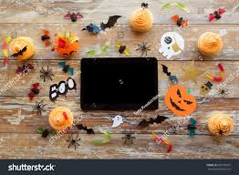 holidays technology party concept halloween decorations stock
