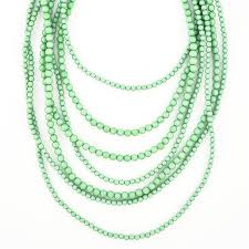 multi layered necklace images Multi strand beaded statement necklace mint necklace by jpg