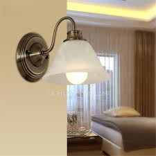 simple wall sconces antique brass glass shade for bathroom