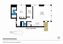 southbank floor plan 1804 7 riverside quay southbank vic 3006 sold