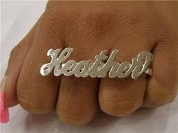 two finger name ring silver two finger name ring 925 personalized z1 nikfine