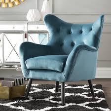 Blue Velvet Wingback Chair Velvet Chairs You U0027ll Love Wayfair Ca