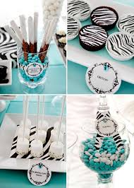 Tiffany Color Party Decorations 109 Best Zebra Party Idea U0027s Images On Pinterest Birthday Party