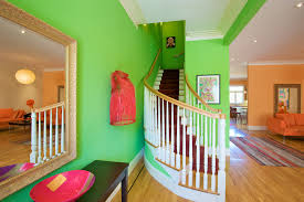 lime green bedding entry contemporary with area rug baseboards