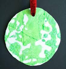 salt painted kid made ornament fantastic learning