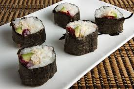 turkey and cranberry sushi on closet cooking