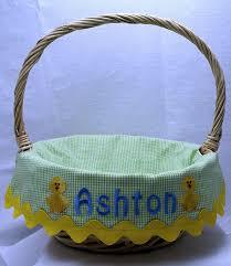 custom easter baskets boy or girl personalized easter basket by morethanastitch on zibbet