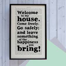 New Home Gift by New Home U0027welcome To My House U0027 Dracula Quote Print By Bookishly