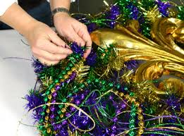 mardi gras bead wreath party ideas by mardi gras outlet mardi gras wreath ideas one