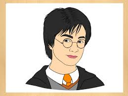 harry potter cartoon drawing how to draw harry potter drawing