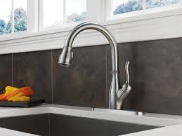 delta ashton kitchen faucet satin nickel delta savile stainless 1 handle pull kitchen