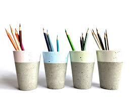Office Desk Pen Holder by Pastel Concrete Pencil Holder Modern Cup Home Decor Minimalist
