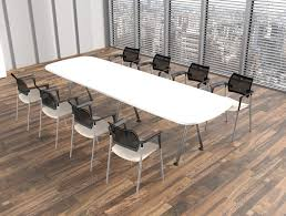 Beech Boardroom Table Kito D End Boardroom Table With Triple A Frame Legs In Beech