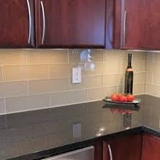 Love This Glass Tile Backsplash Could Paint Watercolor Style On - Glass tiles backsplash kitchen