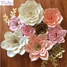 flower backdrop fengrise 2pcs 20cm diy paper flowers backdrop blue artificial