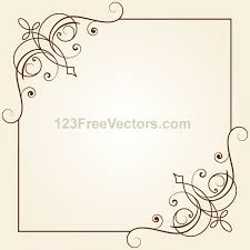 vintage floral ornament frame vector graphics 123freevectors