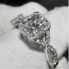 simulated engagement ring simulated wedding rings 45 ct tw 375 mm prong set