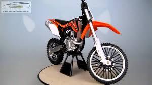 toy motocross bike ktm 450 sx f dirt bike newray 1 6 youtube