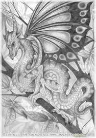 dragon pencil sketch by isilanarith deviantart com on deviantart