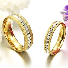 couples jewelry rings images Fate love shinning couple jewelry gold color finger rings one row jpg