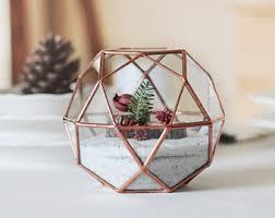 geometric terrarium christmas gift for her glass diamond