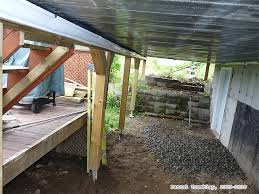 how to build covered gallery or veranda storage ideas under a deck