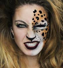 Halloween Cheetah Costumes 25 Animal Makeup Ideas Animal Halloween