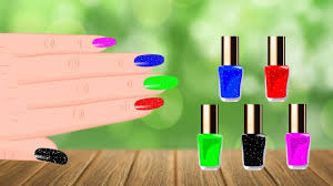 learn colors with nail polish colours to kids children toddlers