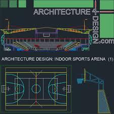 sport complex arena architecture design autocad drawings