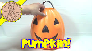 vintage large plastic halloween pumpkin for trick or treat candy