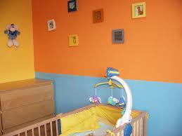 d oration murale chambre enfant chambre orange et bleu mobilier décoration
