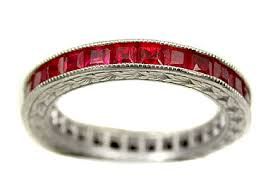 ruby band antique wedding rings antique wedding rings platinum ruby band r0140r