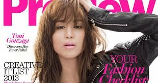 tony gonzaga hair styles toni gonzaga is on the cover of preview magazine october 2013