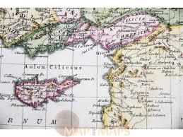 Map Of Syria And Turkey by Asia Minor Turkey Cyprus Syria Old Map Bonne 1787 M U0026m