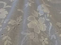 Embroidered Home Decor Fabric Sheer Drapery Fabric Rustic Fresh Curtain Fabric Window Screening
