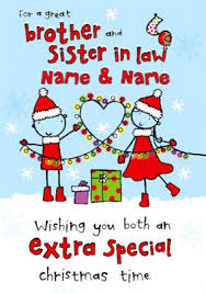 brother u0026 sister in law christmas cards funky pigeon