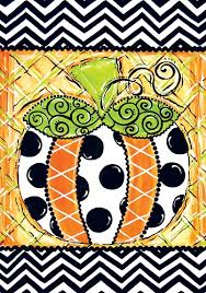 custom decor flag patterned pumpkin decorative flag at garden