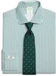 brooks brothers non iron extra slim fit bengal stripe dress shirt
