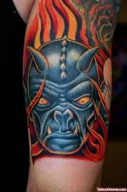 demon face scary tattoo tattoo viewer com