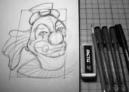 blueline clown sketch a photo on flickriver
