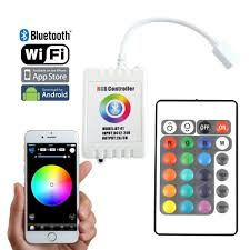 Led Light Color Dc12 24v 2axch Bluetooth Wifi Rf Wireless Control Via Ios Or