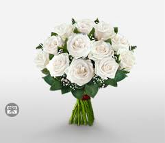 White Rose Bouquet Send Flowers To Philippines Same Day Florist Delivery Flora2000
