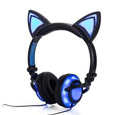 light up cat headphones jamsonic led full light up foldable cat ear headphones use for